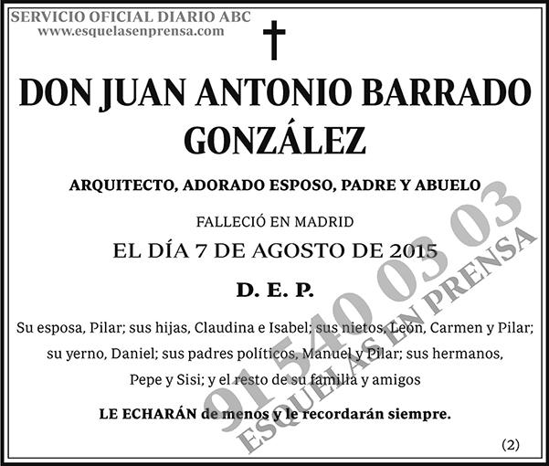 Juan Antonio Barrado González